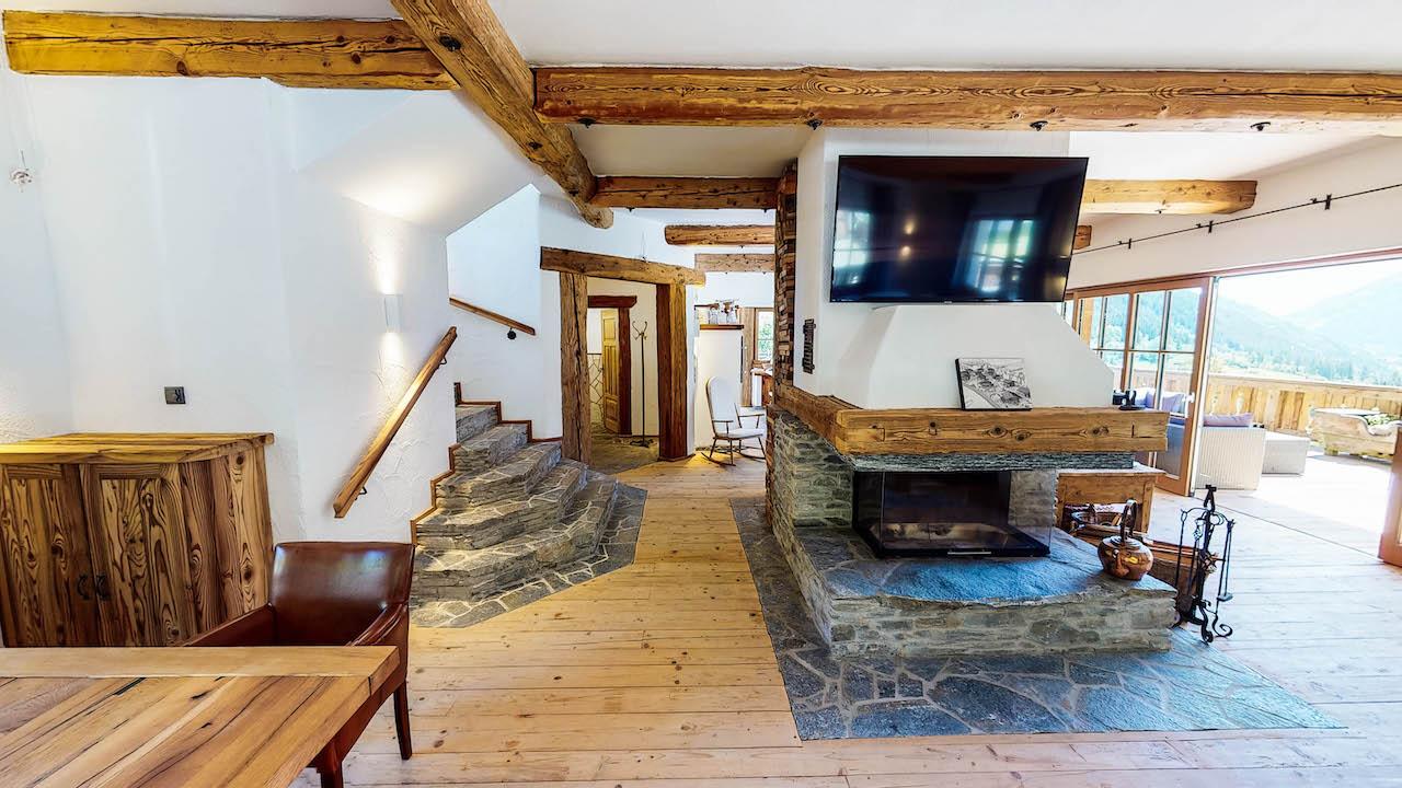 Luxus Dachsuite mit Sichtdachstuhl im Grand Chalet